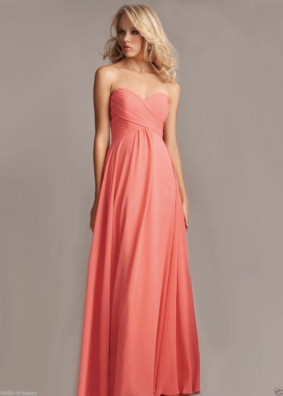 ced026d1fe9 Длинное вечернее платье кораллового цвета