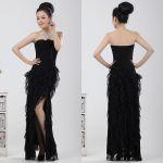 платье с вертикальными полосками